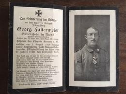 Sterbebild Wk1 Bidprentje Avis Décès Deathcard RIR18 1. August 1918 Aus Moos - 1914-18