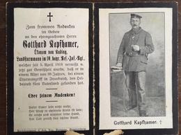 Sterbebild Wk1 Bidprentje Avis Décès Deathcard RIR10 5. April 1918 Aus Kading - 1914-18