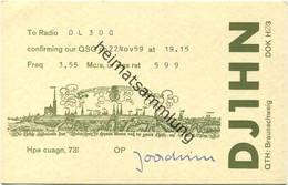 QSL - Funkkarte - DJ1HN - Braunschweig 1959 - Amateurfunk