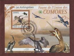 COMORES - Bloc Feuillet N° 215 De 2009 - Oblitéré - LES ANHINGIDAES - Faune De L'UNION DES COMORES - Comores (1975-...)