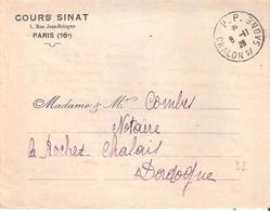 Saone Et Loire :- P.P. * CHALON S/ SAONE * Sur Enveloppe COURS SINAT - Marcophilie (Lettres)