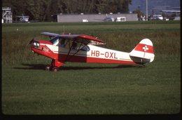 SLIDE / AVION / AIRCRAFT   ORIGINAL      PIPER PA 18 SUPER CLUB  HB-OXL - Diapositives