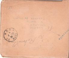 Sarthe :- P.P. * LE MANS * Sur Enveloppe Avec Sa Pub LIQUIDATION STOCK AMERICAIN - Marcophilie (Lettres)