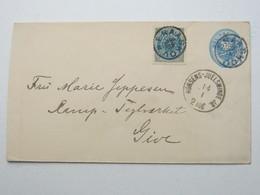 1891 , FRAASKOV , Klarer Stempel Auf Ganzsache , Min. Verkürzt , Recht Selten - Briefe U. Dokumente