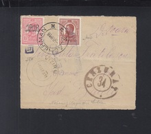 Romania Fragment 1918 Acherman To Viziru Cenzor - Storia Postale Prima Guerra Mondiale