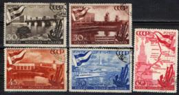 URSS - 1947 - 10° ANNIVERSARIO DEL CANALE MOSCA-VOLGA - USATI - 1923-1991 URSS
