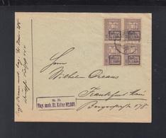 Romania Cover 1918 9. Armee Block Of 4 - Cartas De La Primera Guerra Mundial