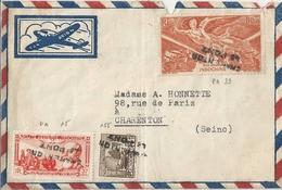Indochine Lettre Affranchie Poste Aérienne - Indochine (1889-1945)