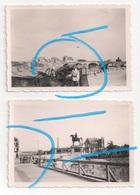 WW2 Allemands Wehrmacht Dv Cathédrale & Ruines à Montereau Fault Yonne Seine Et Marne ! - 1939-45