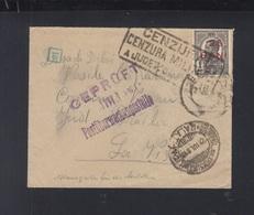 Romania Cover 1918 Overprint Censor - Storia Postale Prima Guerra Mondiale