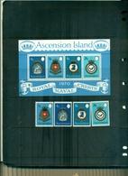 ASCENSION BLASONS DE LA MARINE ROYALE II 4 VAL + BF NEUFS A PARTIR DE 2.25 EUROS - Ascension (Ile De L')