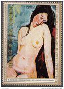 """272 Guinea Equatoriale 1972  """" Nu Assis """" Quadro Dipinto Da A. Modigliani Nuovo MNH Paintings Equatorial - Künste"""