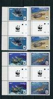 """WWF - Penrhyn - Mi.Nr. 757 / 760 Gutter Pair - """"Suppenschildkröte"""" ** / MNH (aus Dem Jahr 2014) - W.W.F."""