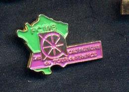 Pin's Carte De France Fcmb Compagnon Tour De France - Autres