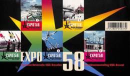 [91901]Belgique 2008, BL158, Expo 58 De Bruxelles, Atomium, Le Bloc, ND/Imperf - 1958 – Bruxelles (Belgique)
