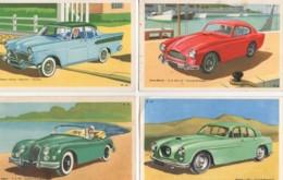 Beau LOT De 6 Cartes Illustrées Des Années 50  (1) ( Jaguard ,Simca Vedette ,Aston-Martin...) - Cartes Postales