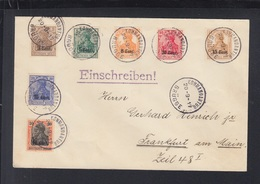 Dt. Reich Besetzung Belgien Brief 1917 Kommandatur Brügge - Occupazione 1914 – 18