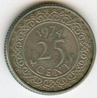 Surinam Suriname 25 Cents 1974 KM 14 - Surinam 1975 - ...