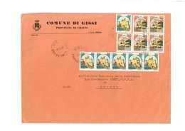 GISSI - 66052 - PROV. CHIETI - LS -  F.TO. 18X24 -  TEMA TOPIC COMUNI D'ITALIA - STORIA POSTALE - Affrancature Meccaniche Rosse (EMA)