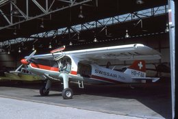 SLIDE / AVION / AIRCRAFT   ORIGINAL  SWISSAIR PHOTO  DORNIER DO 27  HB-FAA - Diapositives