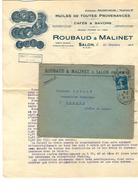 SALON De Provence - Publicité HUILE Dolive -Café Savon - Avec Enveloppe- 1922- Bel Ensemble - Publicités