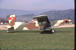 SLIDE / AVION / AIRCRAFT   ORIGINAL  PILATUS PC 6 TURBO PORTER   HB-FKP - Diapositives