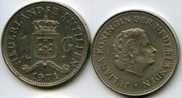 Antilles Neérlandaises Netherlands Antilles 1 Gulden 1971 KM 12 - Antilles Neérlandaises