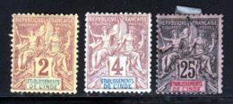 Inde 1892 Yvert 2 - 3 - 8 (*) TB Neuf Sans Gomme - India (1892-1954)