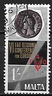 MALTE    -   1968.   Y&T N° 386 Oblitéré.   FAO  /  Alimentation - Malta