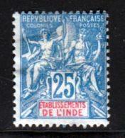 Inde 1900 Yvert 16 (*) TB Neuf Sans Gomme - India (1892-1954)
