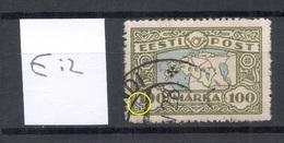 Estland Estonia 1923 Michel 40 E: 2 Variety ERROR  O - Estonie