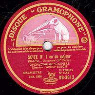 78 Trs - 30 Cm - état TB - SUITE N°1 En Do Majeur (Bach) Ouverture (1re Partie Et Fin) ORCHESTRE DE CHAMBRE ADOLF BUSCH - 78 T - Disques Pour Gramophone