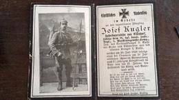 Sterbebild Wk1 Bidprentje Avis Décès Deathcard IR26 BLIGNY Block 4 Grab 79 Aus Eisendorf - 1914-18