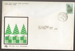 1968 Australia CHRISTMAS Stamp SIGMA Large FDC - Melbourne Cancel - FDC