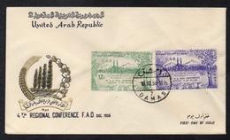 SYRIE - SYRIA - UAR - DAMAS / 1958 ENVELOPPE FDC (ref LE2826) - Syrie