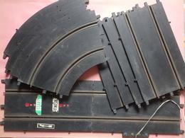 Lot De 11 Rails (5 Courbes + 6 Droits) Pour Circuit électrique POLISTIL Giacattoli 17,5 Cm De Large - Echelle 1/32 - Jouets Anciens