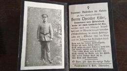 Sterbebild Wk1 Bidprentje Avis Décès Deathcard LIR15 LAFRIMBOLLE Block 1 Grab 869 Aus Flintsbach - 1914-18