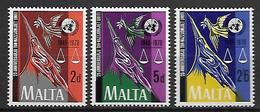 MALTE    -   1970.   Y&T N° 416 à 418 **.   ONU.  Série Complète - Malta