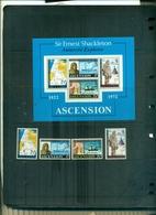 ASCENSION 50 E. SHACKLETON 4 VAL + BF NEUFS A PARTIR DE 1 EURO - Ascension (Ile De L')
