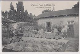 VILLEFRANCHE SUR SAONE (69) : MARCHAND DE VINS - PRODUCTEUR - BEAUJOLAIS - MAISON PAUL COTILLON - 2 SCANS - - Vignes