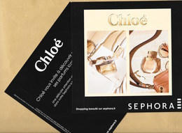 Carte Promo Perfume Card NOMADE * CHLOE * SEPHORA * 18 X 18 Cm - Perfume Cards