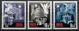 MALTE    -   1970.   Y&T N° 419 à 421 **.   Noël  / Crèche  /  Anges.  Série Complète - Malta
