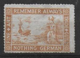 Propaganda Stamp Vignet Allied Forces WW1 Nothing German - WW1