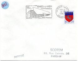 CALVADOS - Dépt N° 14 = DIVES Sur MER 1968 = FLAMME Codée = SECAP Illustrée ' HALLES / BASE NAUTIQUE ' - Postmark Collection (Covers)