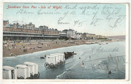 SANDOWN From Pier - Isle Of Wight - 1906 - Sandown