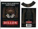 Etiquette   RHUM  Vieux Agricole DILLON - 43° 100cl - Carte Noire -  A.O.C. - Médaille Or 1991 - MARTINIQUE - - Rhum