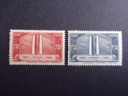 FRANCE YVERT 316/17 NEUF* 28 EURO - France