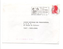 FLAMME PEYNET DON DU SANG DOMBASLE SUR MEURTHE 1987 - Storia Postale