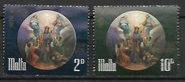 MALTE    -   1971.   Y&T N° 427 / 428 Oblitérés.  Saint Joseph - Malta