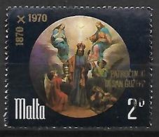 MALTE    -   1971.   Y&T N° 427  Oblitéré .  Saint Joseph - Malta